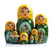 matryoshka кукол гнездилось русский стоковое фото