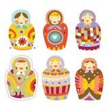 matryoshka кукол собрания Стоковое Фото