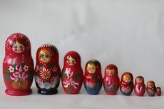 Matryoshka сувениров деревянных кукол русское Стоковое Фото