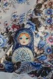 Matryoshka сувениров деревянных кукол русское Стоковое фото RF