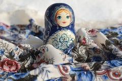 Matryoshka сувениров деревянных кукол русское Стоковые Изображения RF