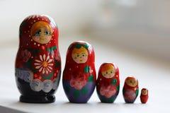 Matryoshka сувениров деревянных кукол русское Стоковые Изображения