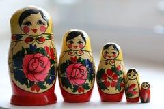 Matryoshka сувениров деревянных кукол русское Стоковое Изображение RF