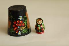 Matryoshka сувениров деревянных кукол русское Стоковая Фотография RF