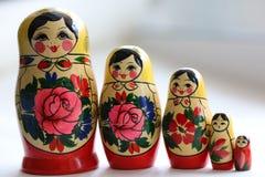 Matryoshka сувениров деревянных кукол русское Стоковые Фото