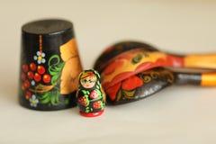 Matryoshka сувениров деревянных кукол русское Стоковое Изображение