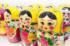 Matryoshka также известное как русские куклы вложенности Стоковая Фотография