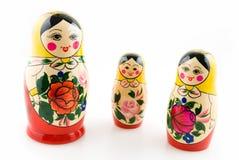 matryoshka 3 кукол Стоковые Изображения