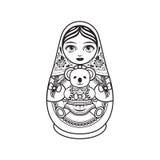 Matryoshka Babushka docka vektor illustrationer