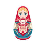 Matryoshka Babushka docka royaltyfri illustrationer