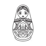 Matryoshka. Babushka doll. Royalty Free Stock Images