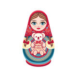 Matryoshka. Babushka doll. Royalty Free Stock Photos