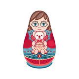 Matryoshka. Babushka doll. Royalty Free Stock Image