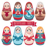 Matryoshka. Babushka doll. Set Stock Photography