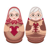 Matryoshka. Babushka doll. Set Royalty Free Stock Images