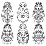 Matryoshka. Babushka doll. Set Stock Photo