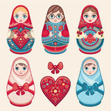 Matryoshka. Babushka doll. Set Royalty Free Stock Photography