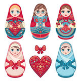 Matryoshka. Babushka doll. Set Stock Photos