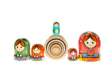 Matryoshka - Babushka Russian Nested Dolls Stock Images
