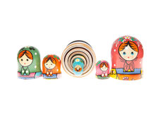 Matryoshka - Babushka Russian Nested Dolls Stock Image