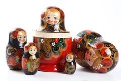 Matryoshka - bambole intercalate russe Immagini Stock Libere da Diritti