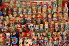 Matryoshka, bambole Mosca, Russia di incastramento Fotografia Stock Libera da Diritti
