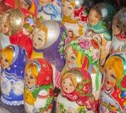 Matryoshka--Bambole russe di legno di incastramento Immagine Stock