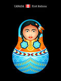 Matryoshka Canada Royalty Free Stock Images