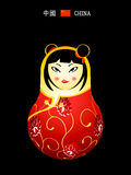 Matryoshka china girl Royalty Free Stock Images