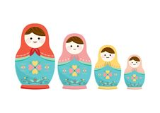 Matryoshka Russian doll cute illustration royalty free illustration