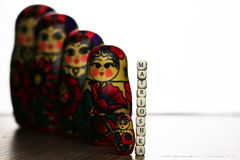 Matryoshka different patterns stock images