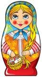 Matryoshka do â da boneca do assentamento do russo Fotos de Stock