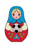 Matryoshka do futebol Fotografia de Stock Royalty Free
