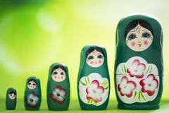 Matryoshka doll. A matryoshka doll, also known as a Russian nesting doll, Stacking dolls, or Russian doll, is a set of wooden dolls of decreasing size placed one royalty free stock images