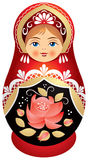 Matryoshka Doll In Kokoshnik Royalty Free Stock Photography
