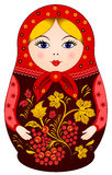 Matryoshka Doll in Khokhloma style Royalty Free Stock Photos