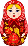 Matryoshka Doll in Khokhloma style Royalty Free Stock Photo