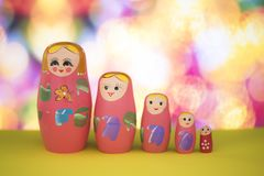 Matryoshka doll. A matryoshka doll, also known as a Russian nesting doll, Stacking dolls, or Russian doll, is a set of wooden dolls of decreasing size placed one stock photos