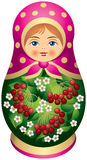 Matryoshka doll with red berries Royalty Free Stock Photo