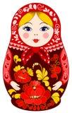 Matryoshka Doll in Red Stock Photo