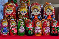 Matryoshka doll,Russian doll, Russian nesting doll,stacking dolls, wooden dolls Stock Images