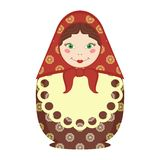 Matryoshka doll traditional russian souvenir on white Royalty Free Stock Photo