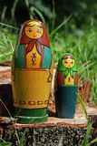 Matryoshka dolls. Russian matryoshka dolsl, also known as nesting dolls Royalty Free Stock Images