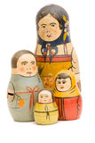 Matryoshka dolls. Vintage Russian Matryoshka dolls isolated on white Royalty Free Stock Photo