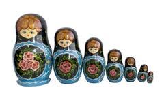 Matryoshka dolls. Russian national toy - Matryoshka doll - isolated Stock Image