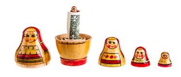 Matryoshka dolls family bonus Royalty Free Stock Photography