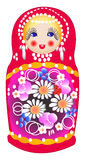 Matryoshka dolls in vector Royalty Free Stock Images