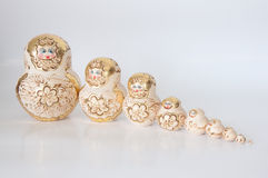 Matryoshka, een Russische houten pop Royalty-vrije Stock Foto's
