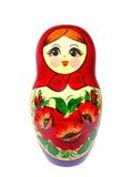 Matryoshka en un fondo blanco Foto de archivo libre de regalías