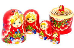 Matryoshka family Royalty Free Stock Photo